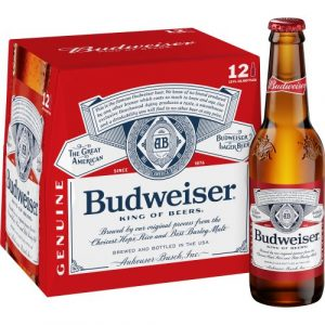 Budweiser Lager Cans 4 Pack (500 ml)