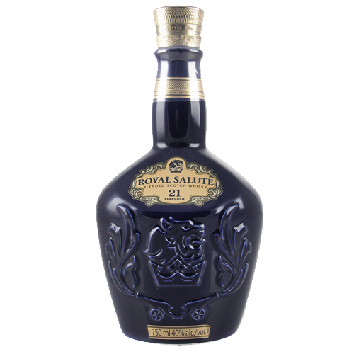 Chivas Royal Salute 21 year old is the epitome of all blended Scotch Whiskies that delivers a fruity, floral and smoky fragrance that delivers a sweet, nutty and full-bodied palate and long, warm finish.